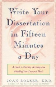 Baixar Writing Your Dissertation in Fifteen Minutes a Day: A Guide to Starting, Revising, and Finishing Your Doctoral Thesis pdf, epub, eBook
